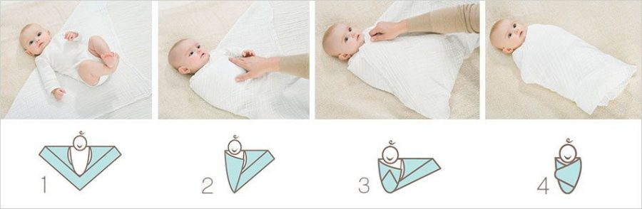 cara bedong bayi