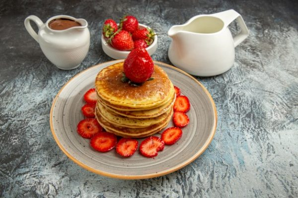 resep pancake strawberry